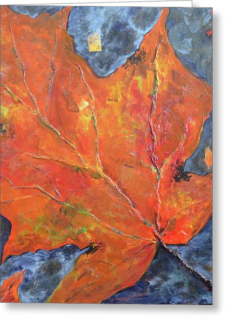 Leaf Seeking Rest Greeting Card by Cynthia Matthews