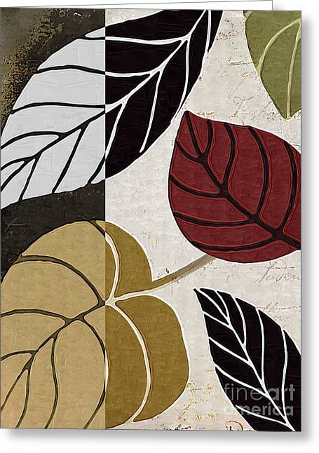 Leaf Story Greeting Card by Mindy Sommers