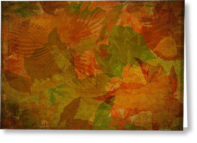 Leaf Texture And Background Greeting Card