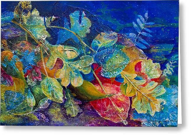 Leafin An Imprint Greeting Card by Jo-Anne Gazo-McKim