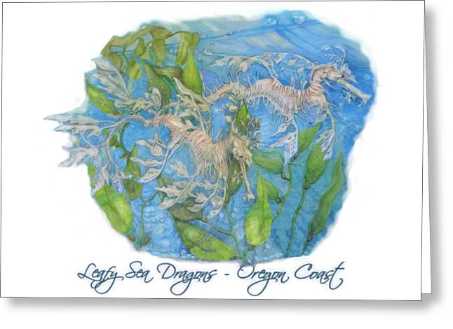 Leafy Sea Dragons Greeting Card by Kara Skye