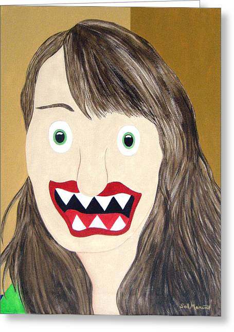 Leah Saulnier - Painting Maniac Greeting Card