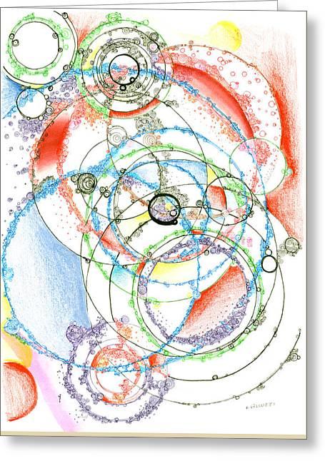 Leaky Realities Greeting Card by Regina Valluzzi