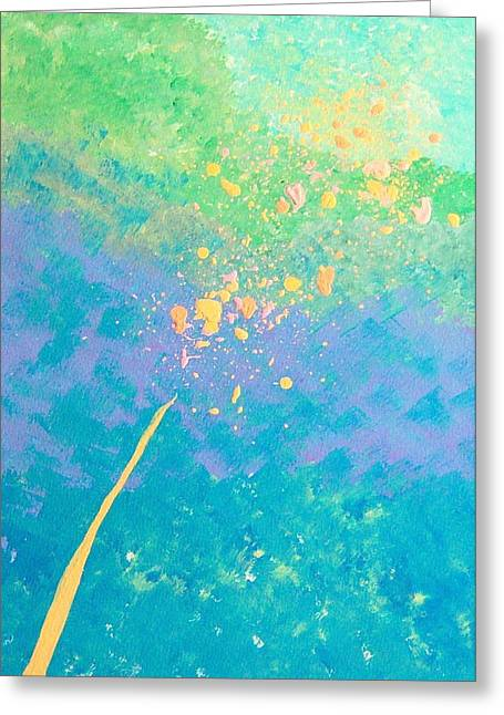 Leaning Greeting Card by Helene Henderson
