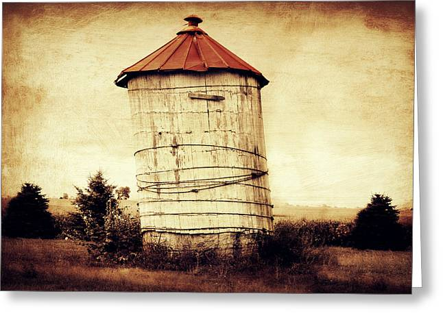 Leaning Tower Greeting Card by Julie Hamilton