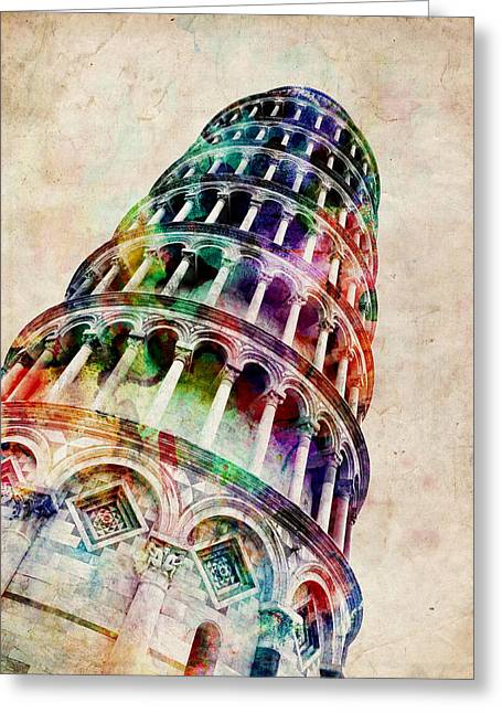 Pisa Greeting Cards - Leaning Tower of Pisa Greeting Card by Michael Tompsett