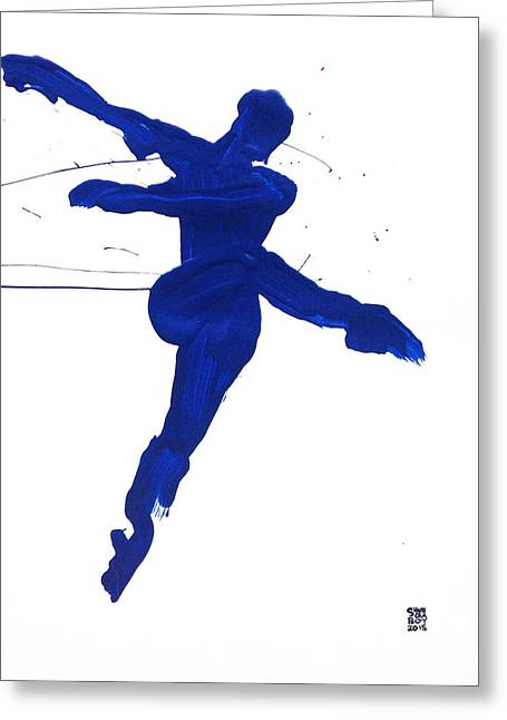 Leap Brush Blue 1 Greeting Card