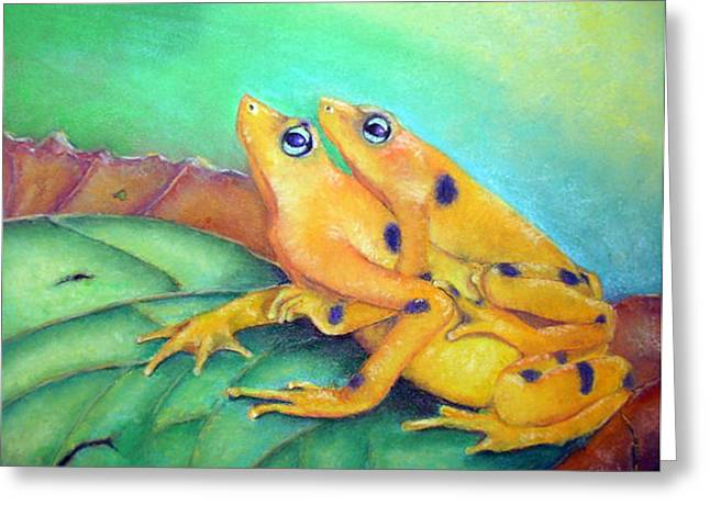 Greeting Card featuring the painting Leap Day by Ceci Watson