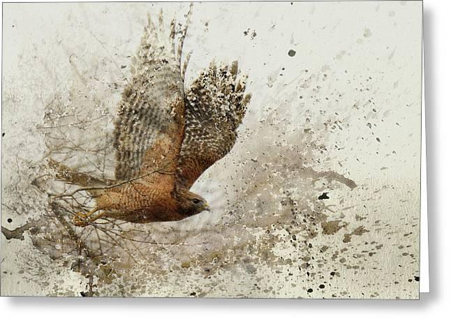 Leap Of Faith Wildlife Art Greeting Card by Jai Johnson