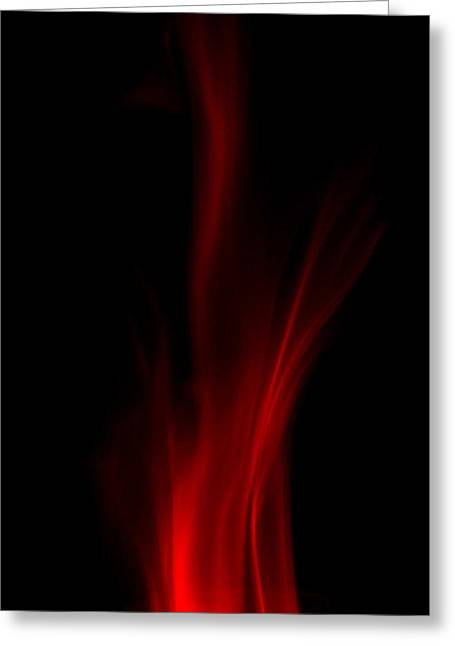 Leaping Flames Greeting Card by Christopher Rowlands