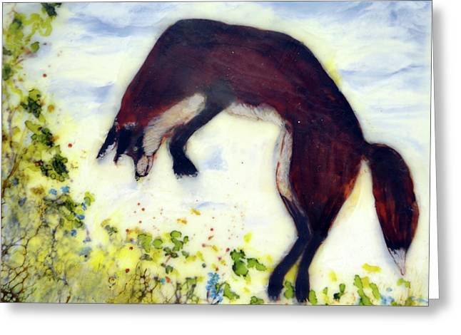 Leaping Fox 1 Greeting Card
