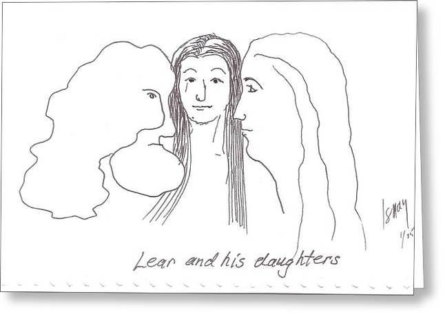 Lear And His Daughters Greeting Card by Rod Ismay