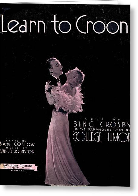 Tin Pan Alley Greeting Cards - Learn to Croon Greeting Card by Mel Thompson