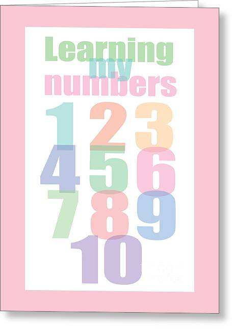 Learning To Count My Numbers To 10 Greeting Card