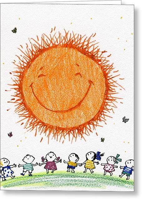 Learning To Joy Greeting Card by Kseniya Nelasova