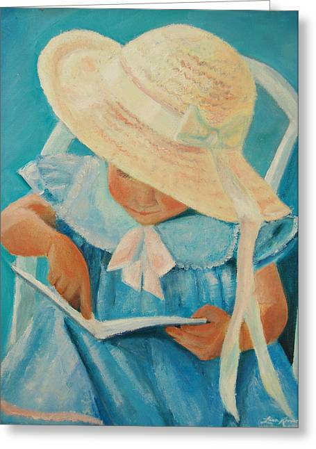 Learning To Read Greeting Card by Lisa Konkol