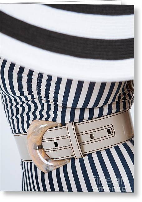 Greeting Card featuring the photograph Leather Belt With A Buckle  by Andrey  Godyaykin