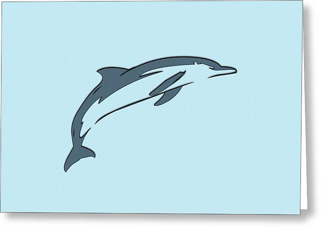 leather Dolphin Greeting Card