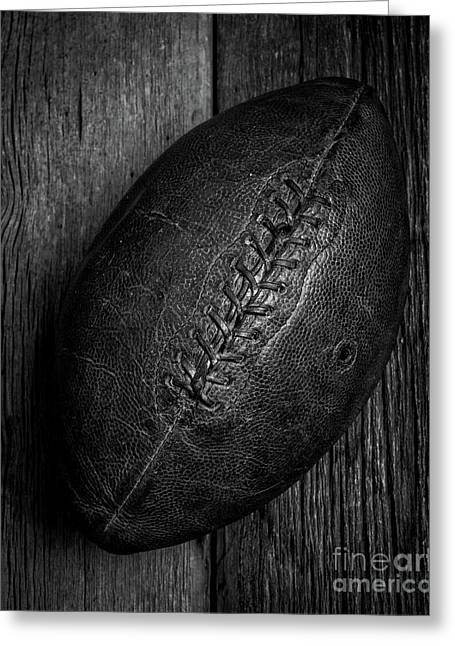 Leather Pigskin Football Greeting Card by Edward Fielding