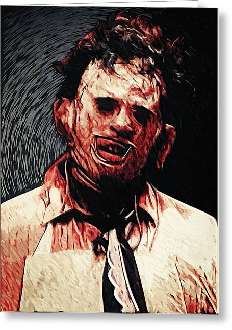 Leatherface Greeting Card by Taylan Apukovska