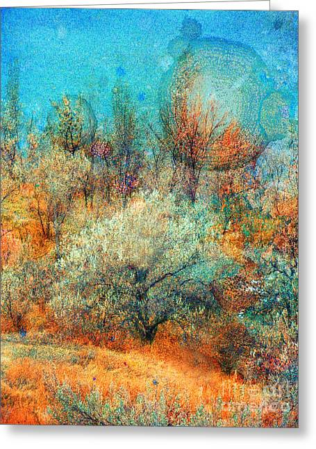 Leave It To The Trees To Dance In The Cold Greeting Card by Tara Turner