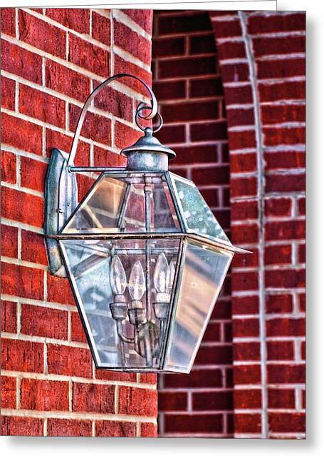 Leave The Light On Effie Greeting Card by Brenda Bryant