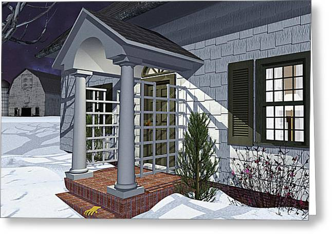 Leave The Porch Light On Greeting Card