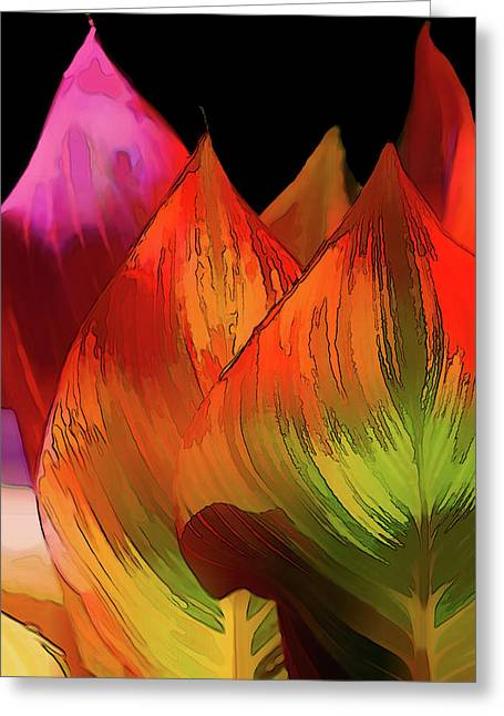Leaves Aflame Greeting Card
