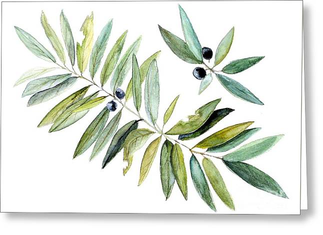 Leaves And Berries Greeting Card