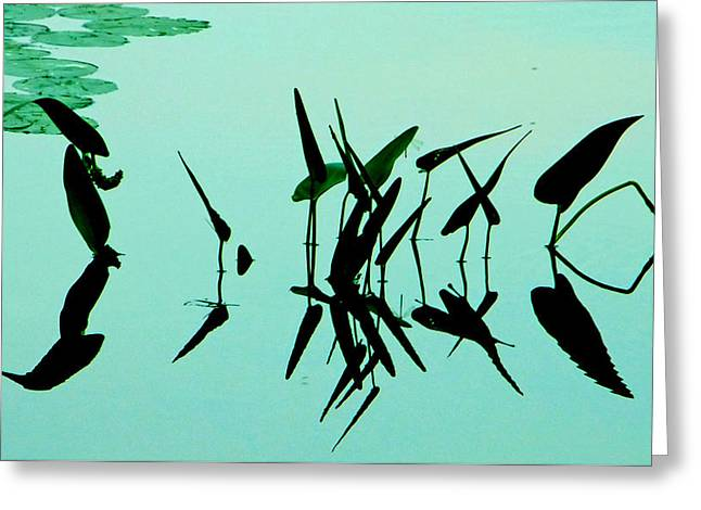 Leaves And Dragonflies 2 Greeting Card