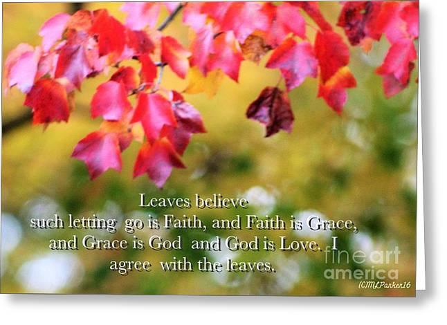 Leaves Believe Greeting Card