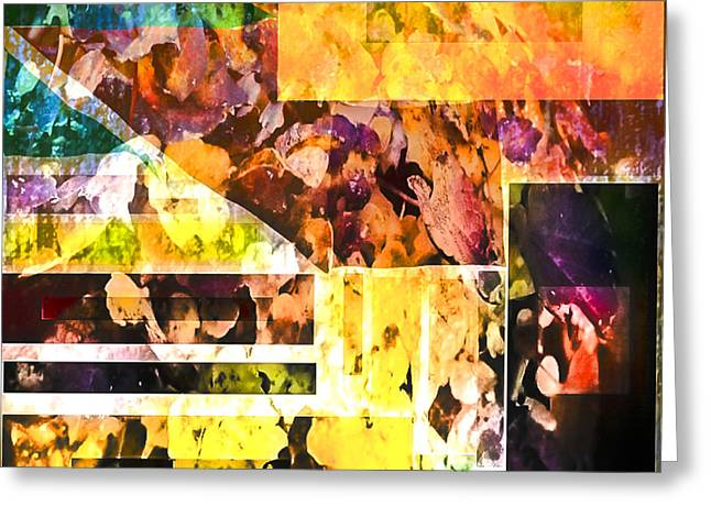Greeting Card featuring the digital art Leaves by Dale Stillman