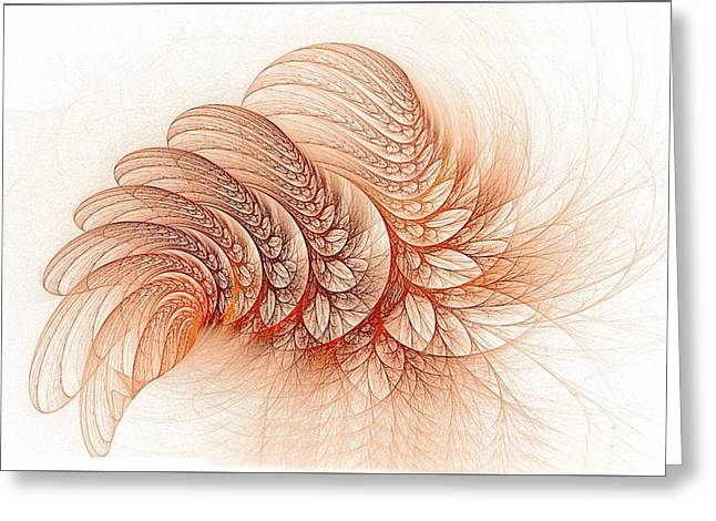 Leaves Of The Fractal Ether-2 Greeting Card