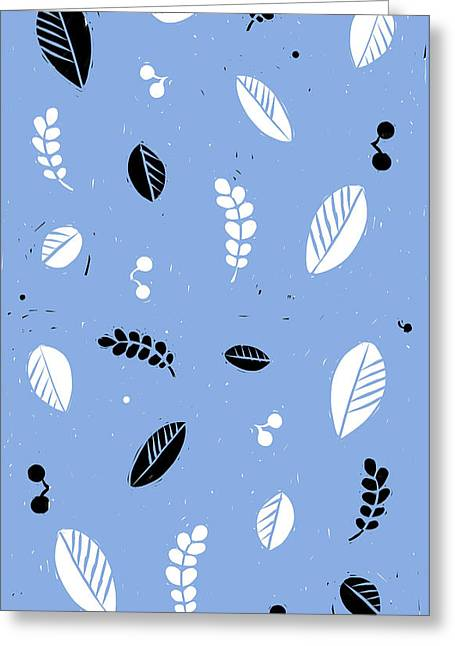 Leaves - Peri B/w Greeting Card