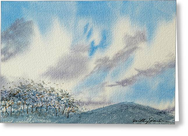 The Blue Hills Of Summer Greeting Card