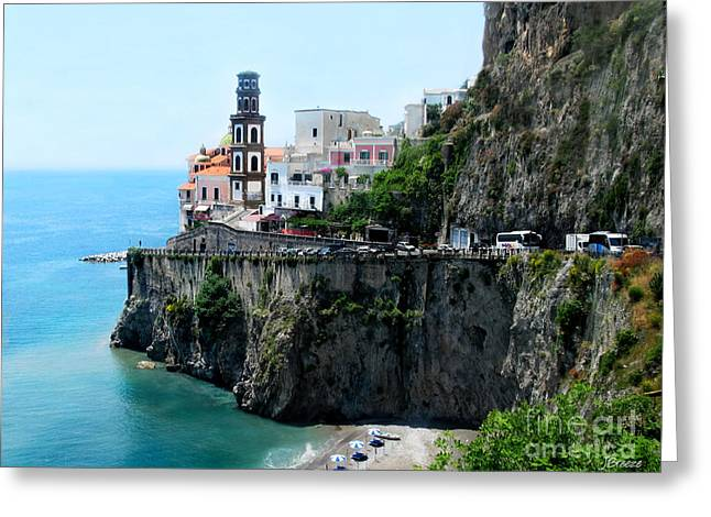 Leaving Atrani  Italy Greeting Card