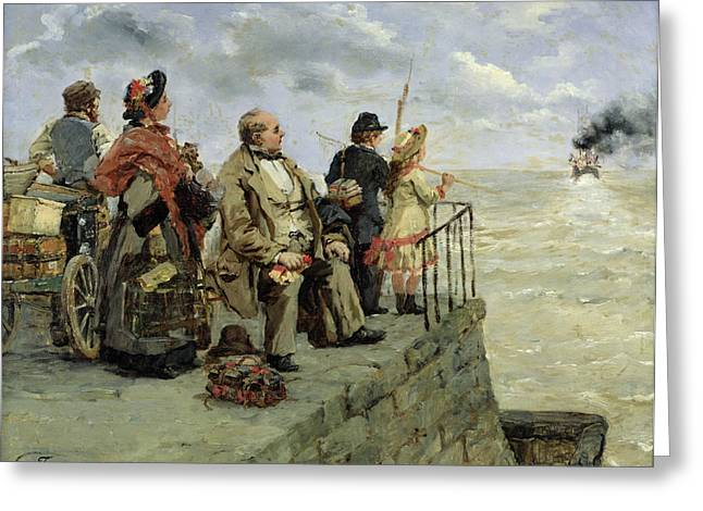 Farewells Greeting Cards - Leaving for Jersey  Greeting Card by Guillaume Romain Fouace