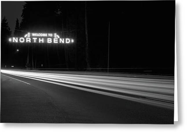 Leaving North Bend Greeting Card by HW Kateley