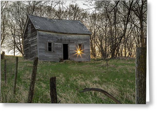 Leaving The Light On Greeting Card