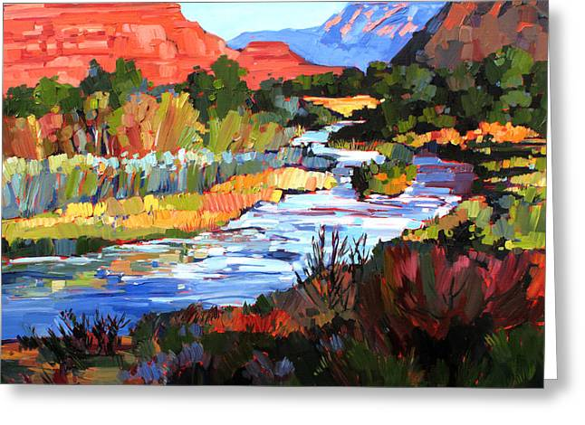 Climbing Greeting Cards - Leaving Zion Greeting Card by Erin Hanson