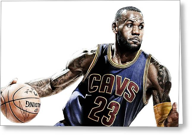 Lebron Greeting Card by Bobby Shaw