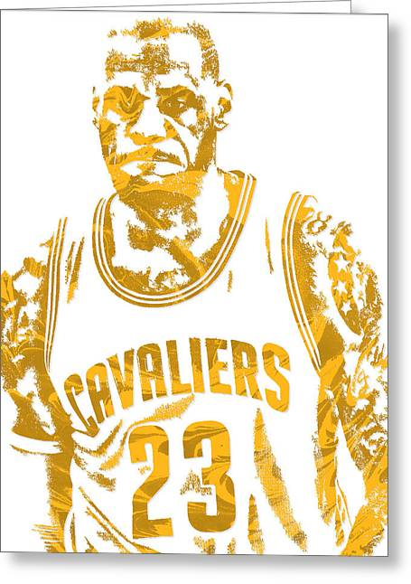 Lebron James Cleveland Cavaliers Pixel Art 10 Greeting Card