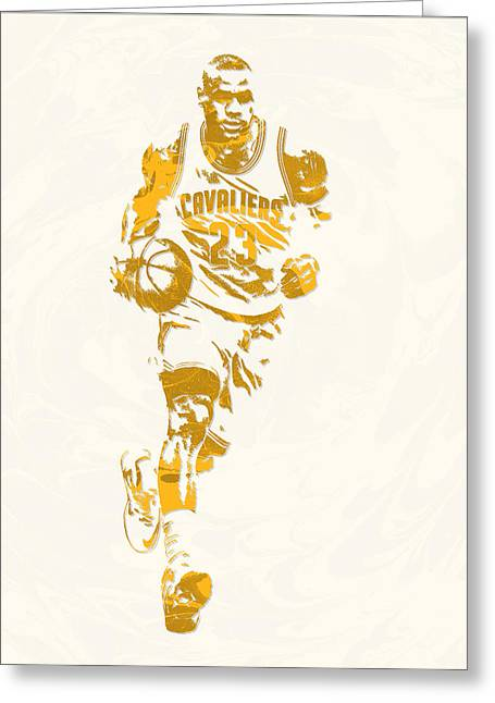 Lebron James Cleveland Cavaliers Pixel Art 11 Greeting Card