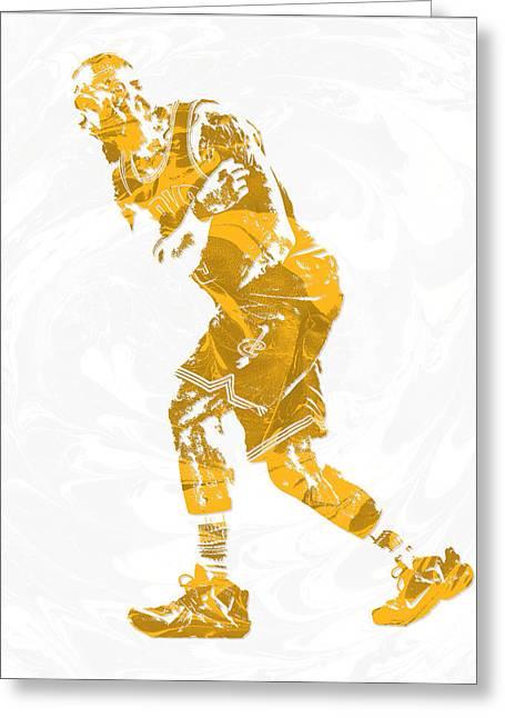 Lebron James Cleveland Cavaliers Pixel Art 13 Greeting Card