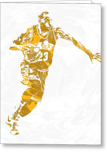 Lebron James Cleveland Cavaliers Pixel Art 14 Greeting Card