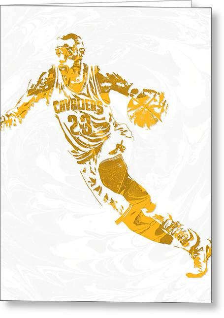 Lebron James Cleveland Cavaliers Pixel Art 15 Greeting Card