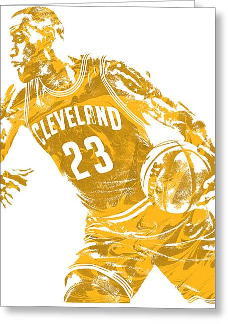 Lebron James Cleveland Cavaliers Pixel Art 20 Greeting Card