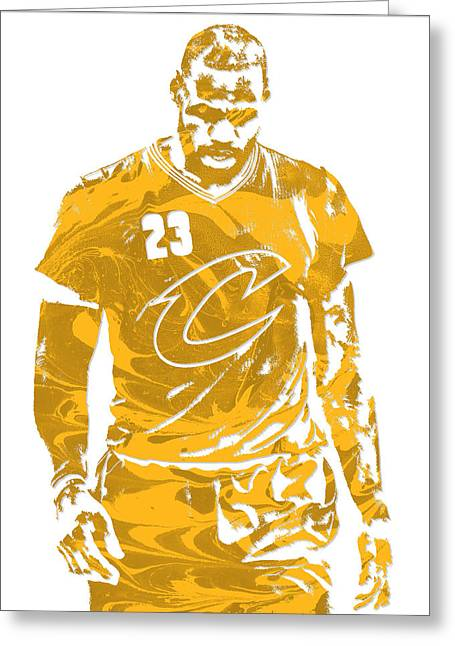 Lebron James Cleveland Cavaliers Pixel Art 21 Greeting Card