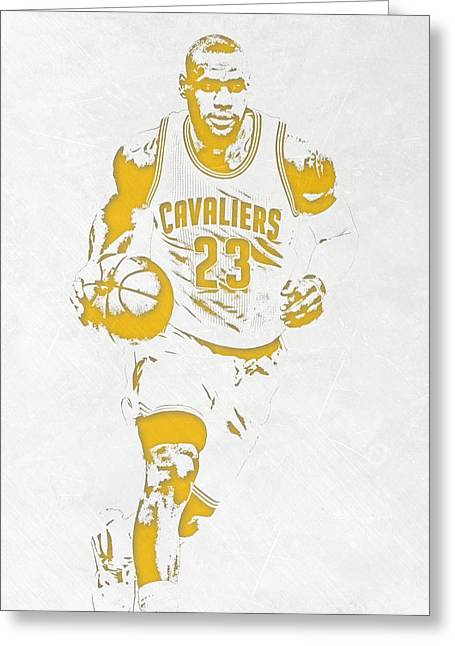 Lebron James Cleveland Cavaliers Pixel Art 5 Greeting Card