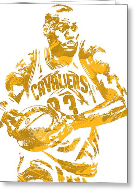 Lebron James Cleveland Cavaliers Pixel Art 6 Greeting Card